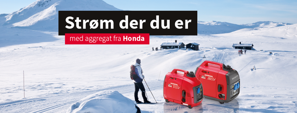 Kampanjepriser på Honda Strømaggregater